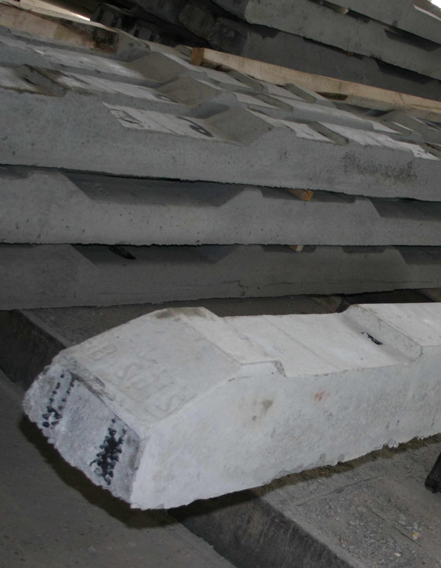 Комплект железобетонных брусьев для проекта 2768