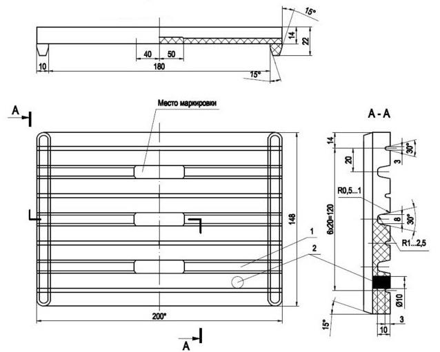 Железнодорожные прокладки ЦП-204 ЖБР