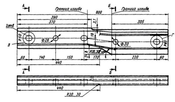 Переходные накладки Р65-Р50