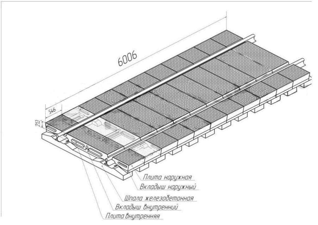 Резинокордовый настил проект 2741.000
