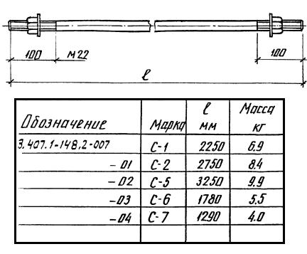 Стяжки С-1 — С-7